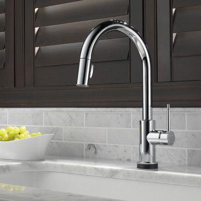 Delta Trinsic Single Handle Deck Mounted Kitchen Faucet & Reviews | Wayfair