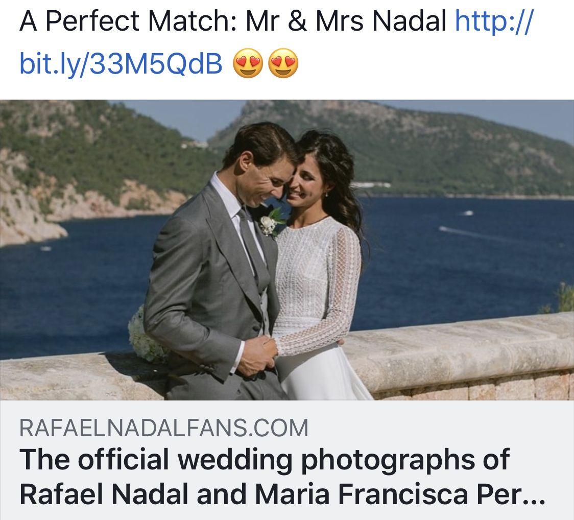 Rafa Nadal marries long time girl friend/fiancée Rafael
