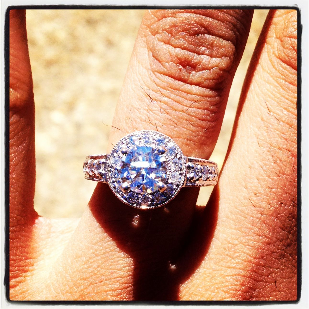 :) perfect ring from the perfect man!!