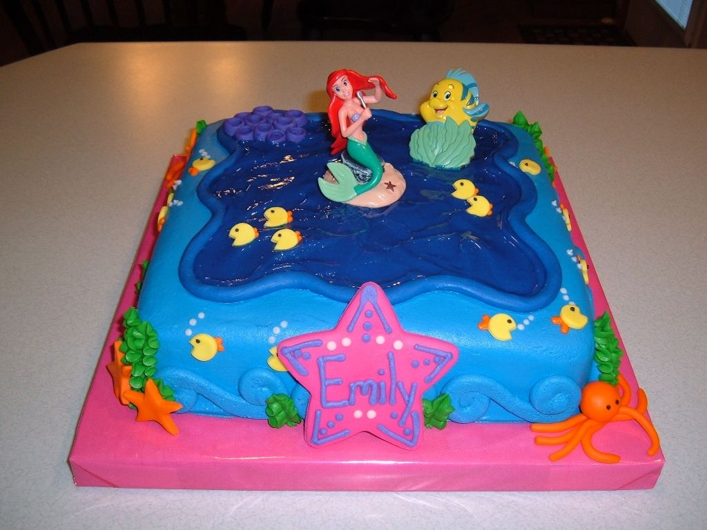 Ariel the little mermaid birthday cakes little mermaid