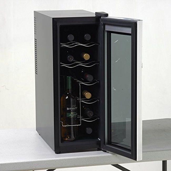 Details About Wine Cooler Refrigerator Beverage Chiller 12 Bottle