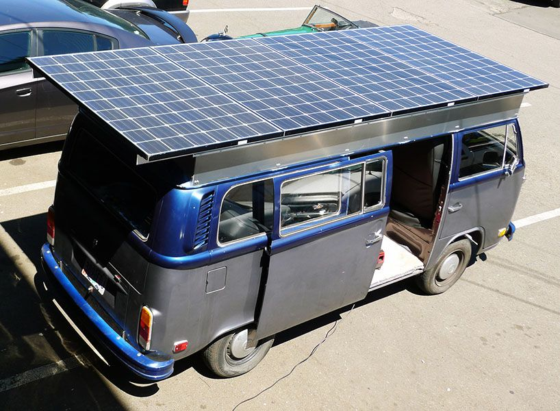 Family Creates Solar Electric Volkswagen Camper Van Volkswagen Camper Van Solar Electric Solar Car