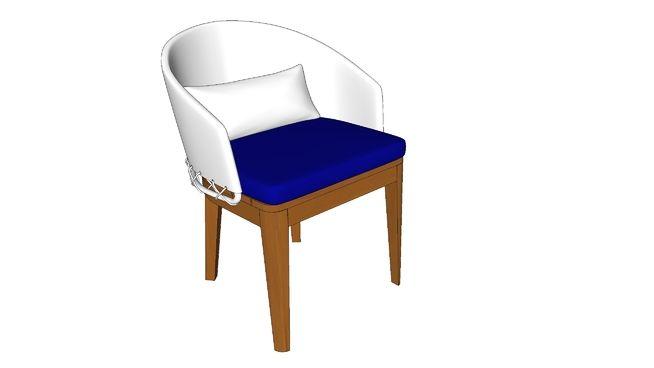 Cadeira Encosto largo 60 x 60 x 78 cm