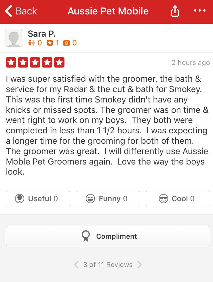 Review we just received on Yelp. We ️ our clients!