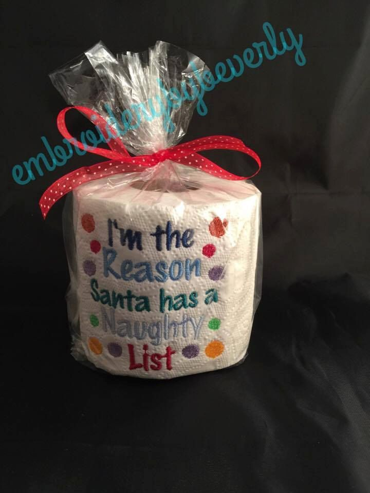Naughty List Christmas Gag Gift Toilet Paper Christmas Bathroom Decor Funny Unique Gift Br Gag Gifts Christmas Toilet Paper Crafts Christmas Bathroom Decor