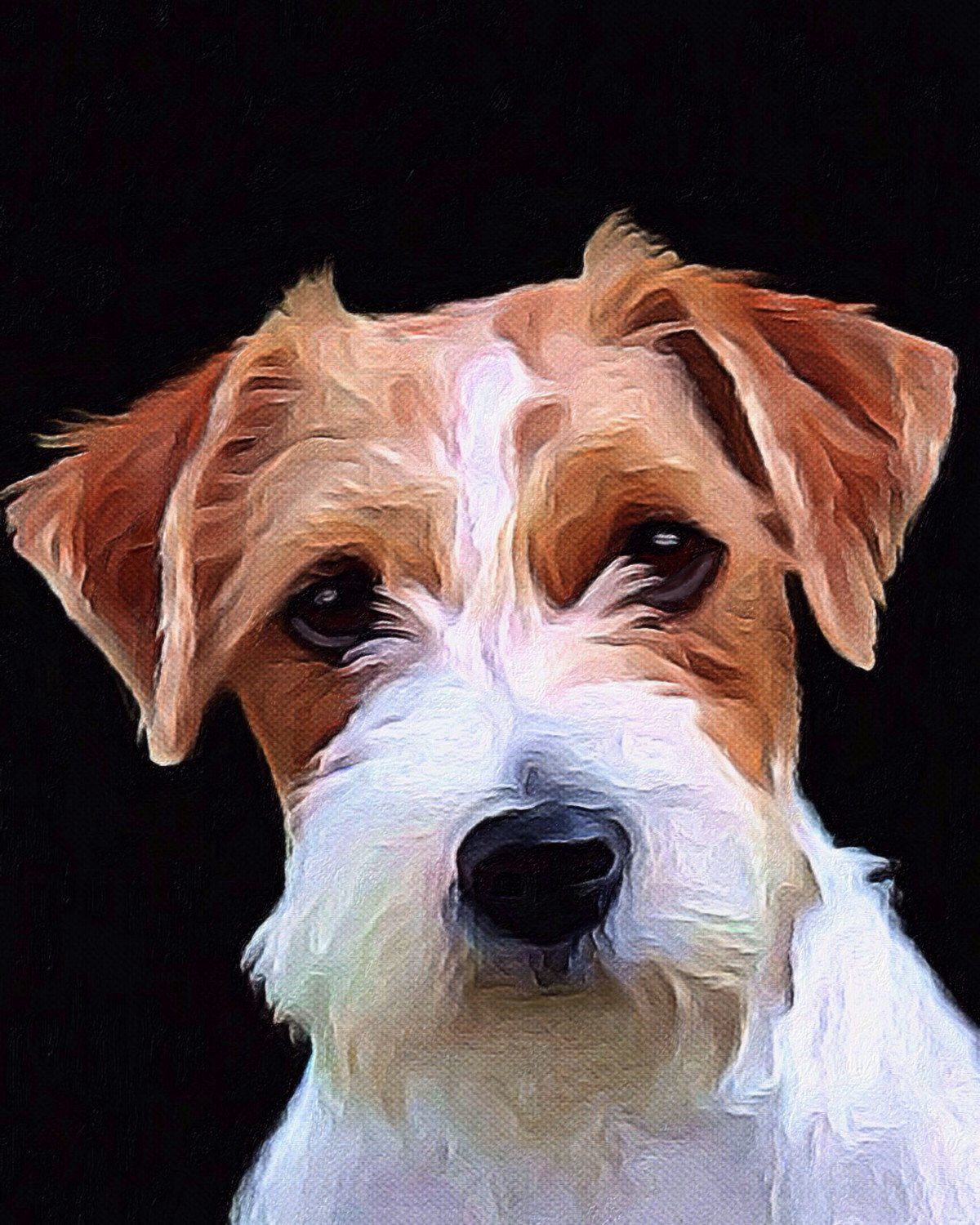 Jack Russell Terrier art painting acrylic giclee print