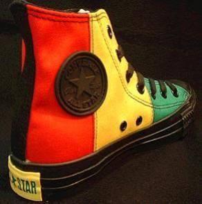 Rasta Converse!  bcbc4bf8673