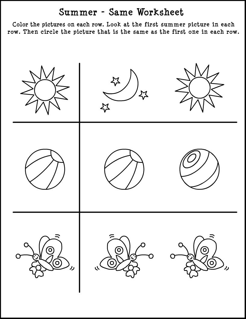 Summer Worksheet | Summer worksheets, Printable summer ...