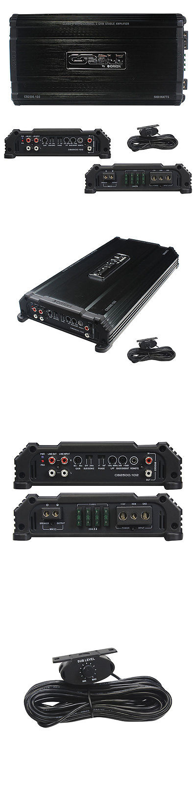 Car Amplifiers: Orion Cb25001d2 Cobalt D Class 2 Ohm Stable Amplifier 5000 Watts @ 2 Ohm -> BUY IT NOW ONLY: $176.29 on eBay!