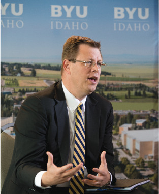 Clark Gilbert, BYU-Idaho's new university president, previously served as an associate academic vice president at the university and oversaw online learning initiatives. In 2009, he accepted the position as CEO over Deseret Digital Media. During the twilight of his time in Rexburg, Gilbert worked closely with J.D. Griffith, overseeing Pathway's birth into what we know today. #BYUI #BYUIPathway #LDS