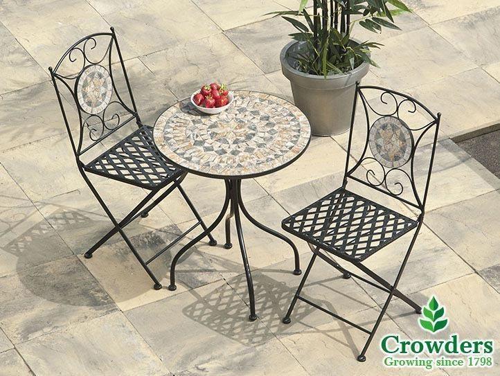 Enjoyable Sun Time Leaf Mosaic Bistro Table Garden United Kingdom Home Interior And Landscaping Mentranervesignezvosmurscom
