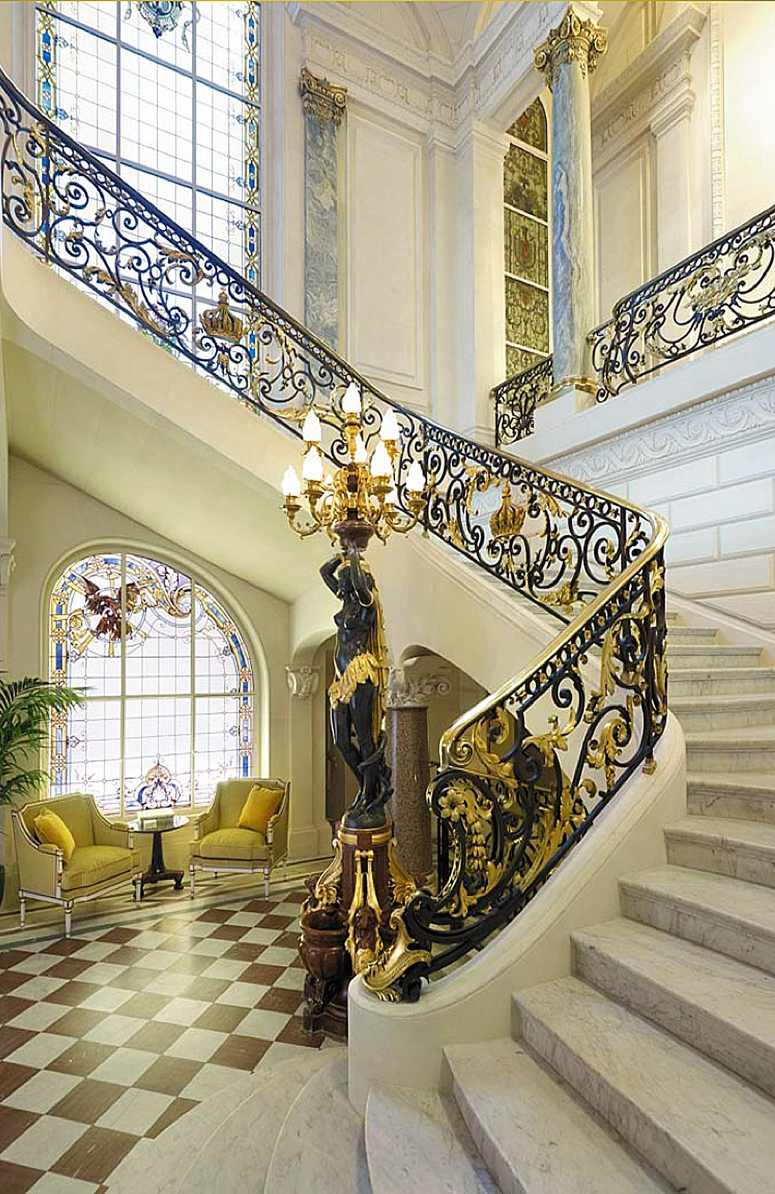 30 luxurious grand staircase design ideas for amazing home rh pinterest es