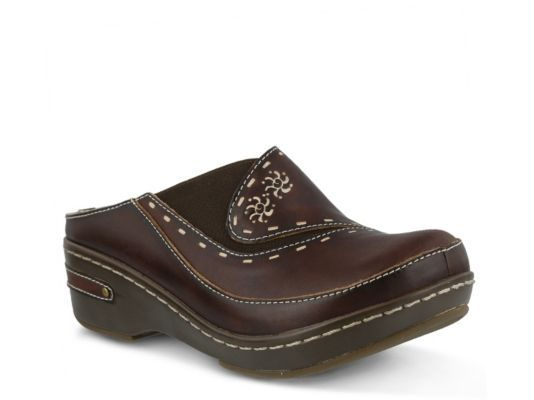 Women's L' Artiste by Spring Step Chino Clog - Brown
