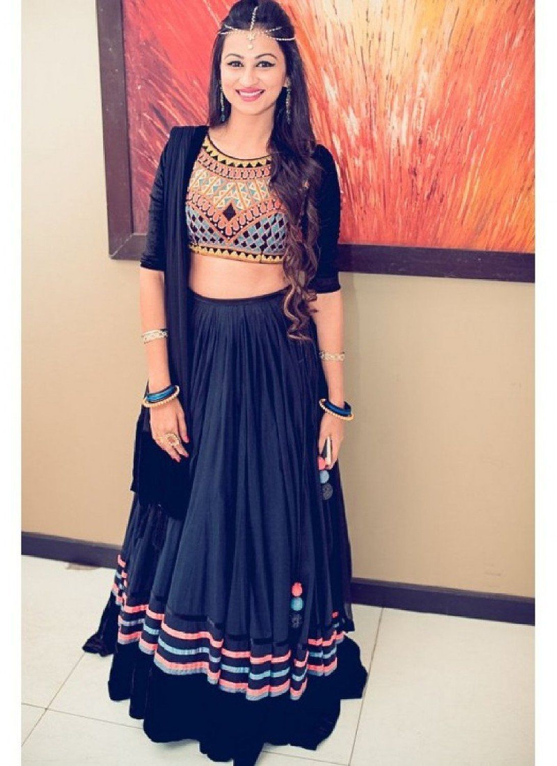 a54a864b6e0304 Shop L-06 Navy Blue Georgette Lehenga by Exclusive Fashion online. Largest  collection of Latest Lehangas online. ✻ 100% Genuine Products ✻ Easy  Returns ...