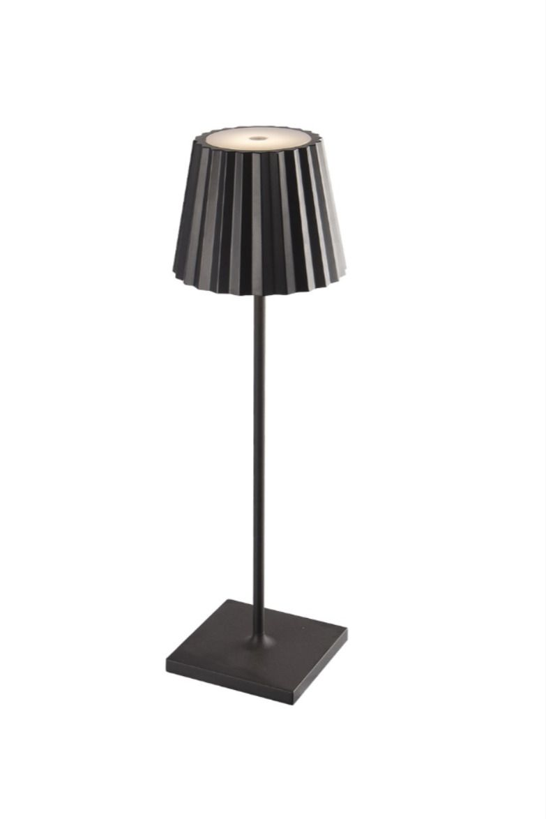 Elipta Battery Powered Outdoor Table Lamp Rechargeable Led Black