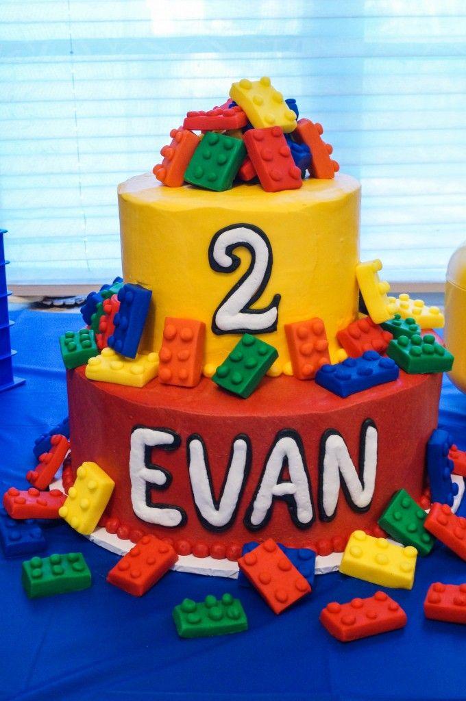 Happy 2nd Birthday Evan Lego Birthday Party Lego Birthday Cake