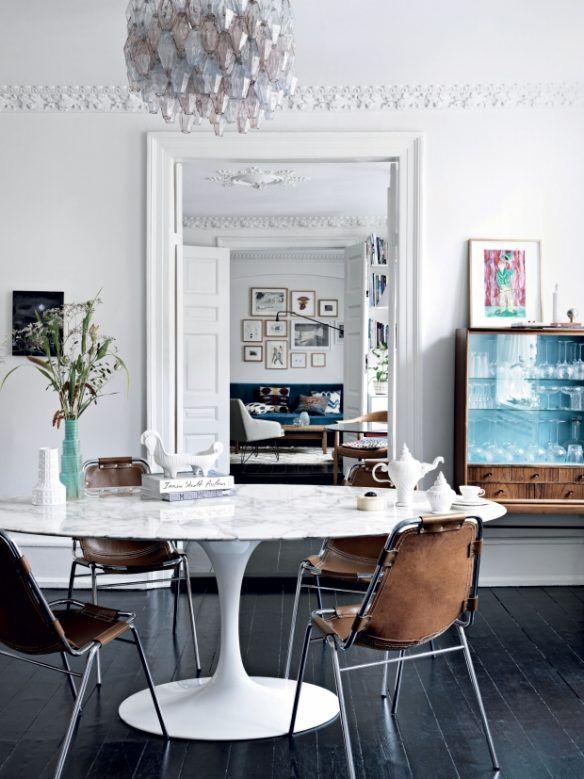 Style Scandinave + Esprit Industriel Tables Dining Rooms   Dachwohnung Im Skandinavischen  Stil