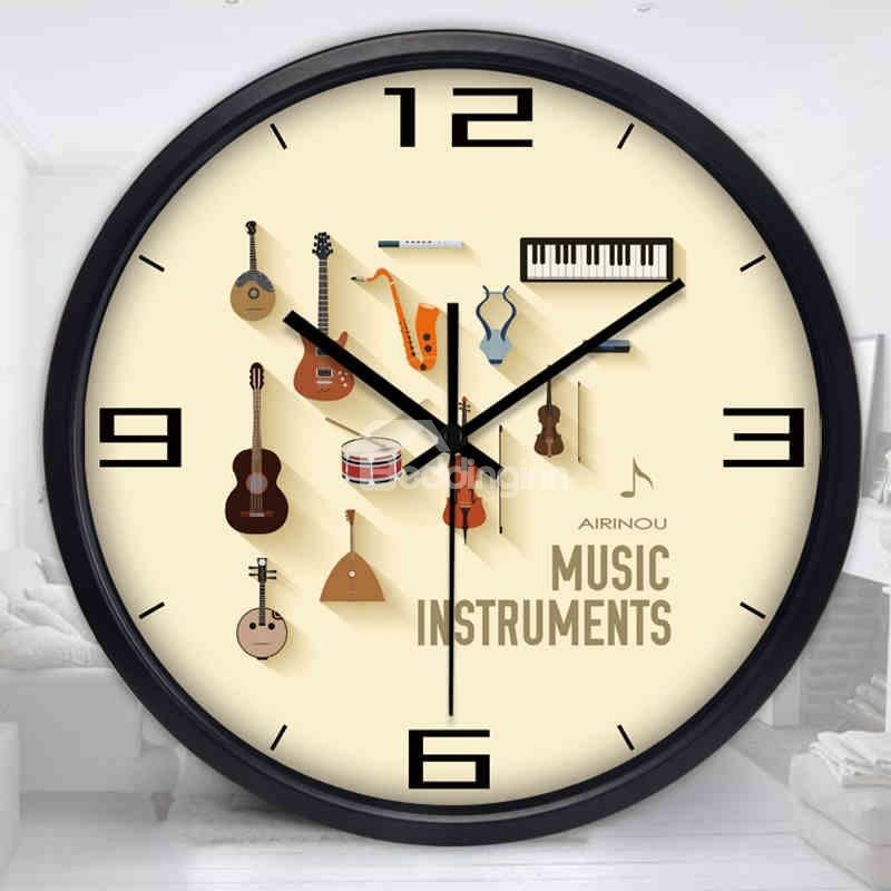 Musical Instrument Wall Clock for Home Decoration Home Decor