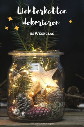 Zauberhafte Weihnachtsstimmung auf dem Balkon mit Lichterketten - Tischlein deck dich #fensterdekoweihnachten