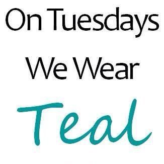 Pin On Teal Tuesday Ovarian Cancer Awareness Day Of The Week Cause I We Care