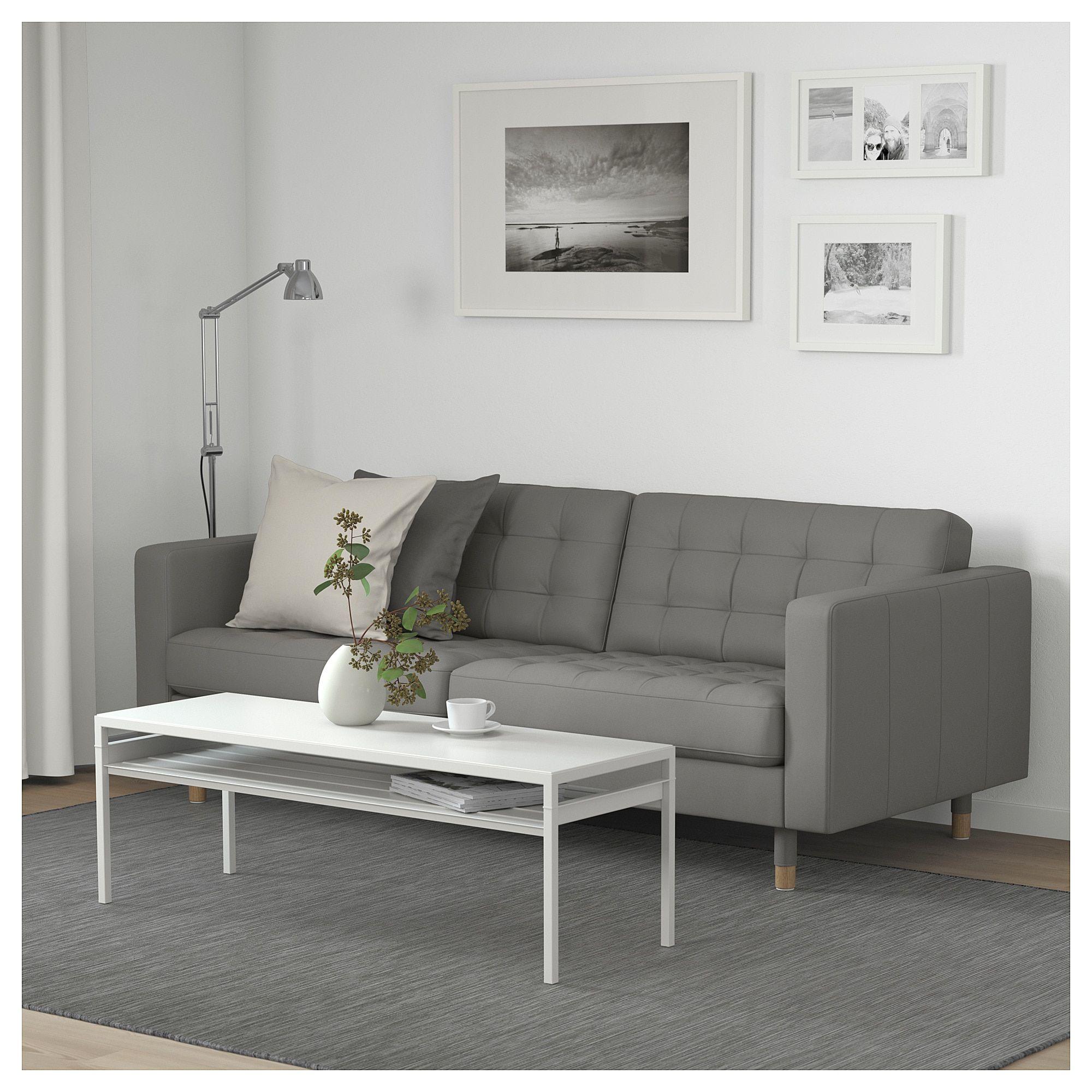 ikea landskrona sofa grann bomstad gray green wood in 2019 rh pinterest com