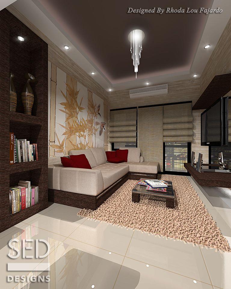 Bookshelf and large wall decor modern apartments for Condo wall decor ideas
