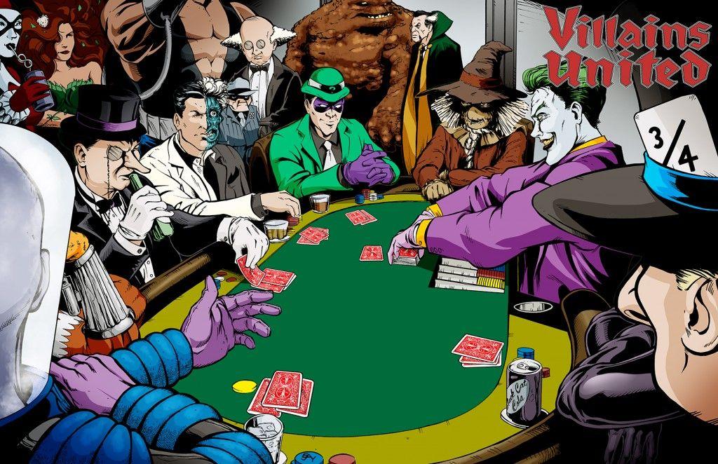 Villains United For Poker Poker Batman Villain