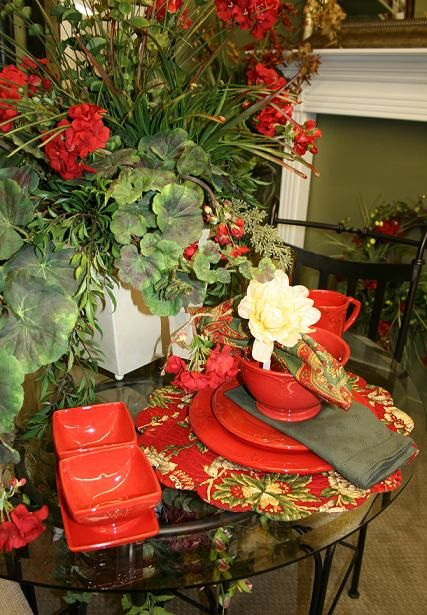 geranium tablescape tablescape ideas pinterest rh pinterest com