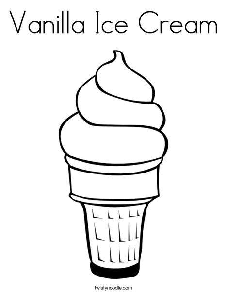 Vanilla Ice Cream Coloring Page Ice Cream Coloring Pages Ice Cream Cone Drawing Ice Cream Clipart