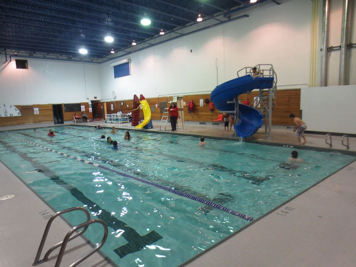 New Water Slide At The Swimming Pool Swimming Pools Water Slides Recreational Activities