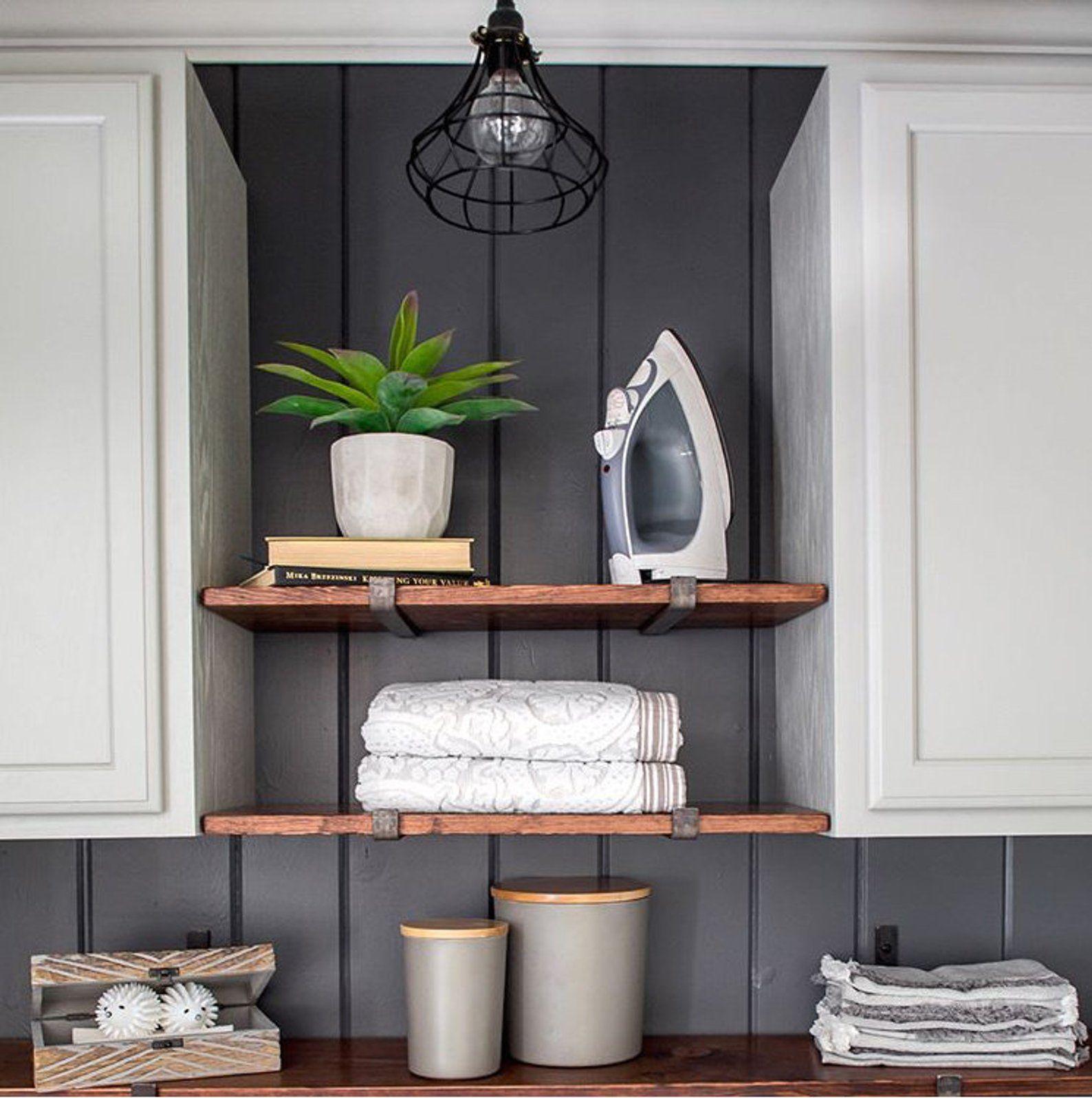 metal shelf brackets for floating shelves steel black and brass rh in pinterest com
