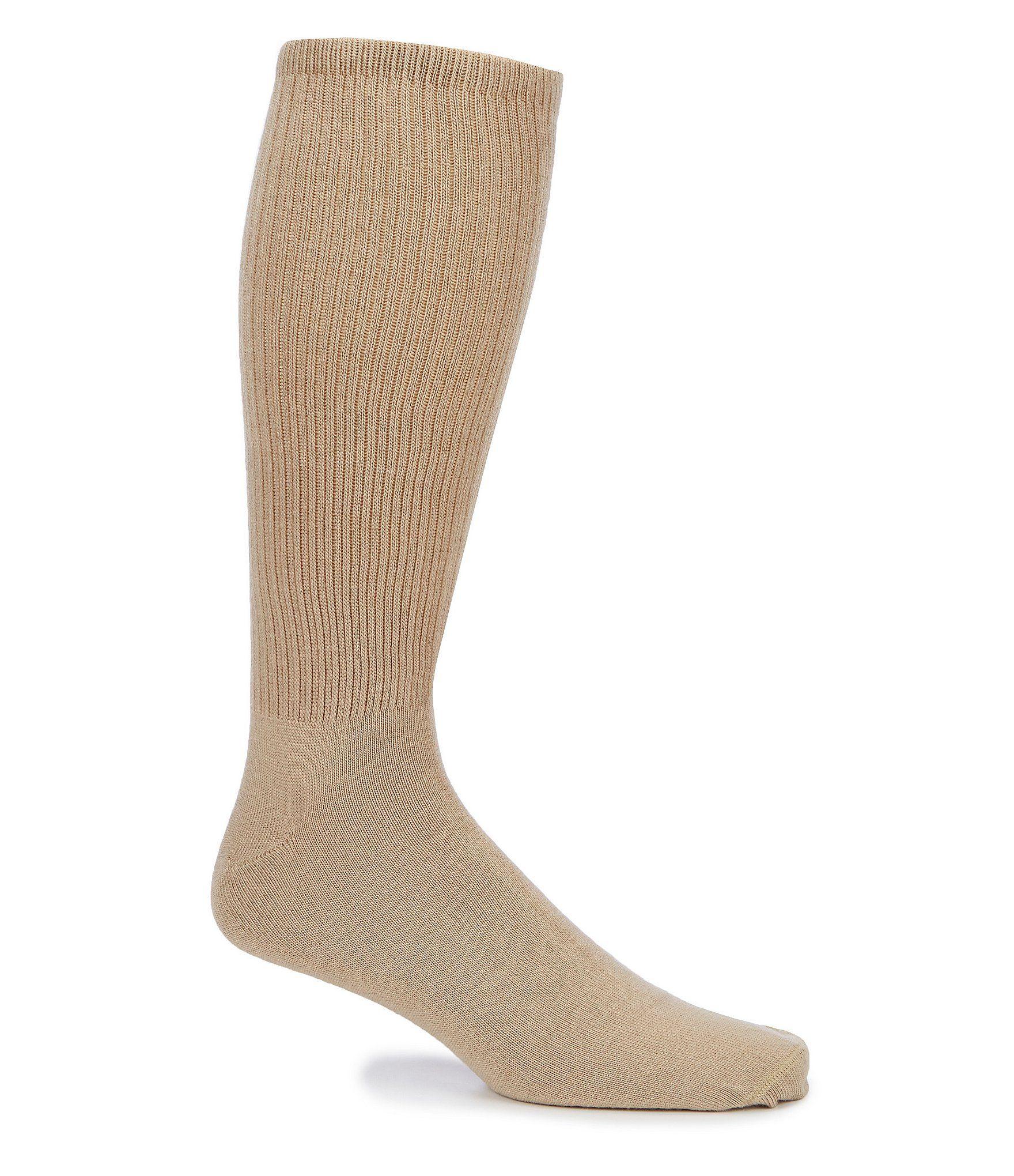 Roundtree  Yorke Big  Tall Crew Socks 3-Pack - Khaki N/A