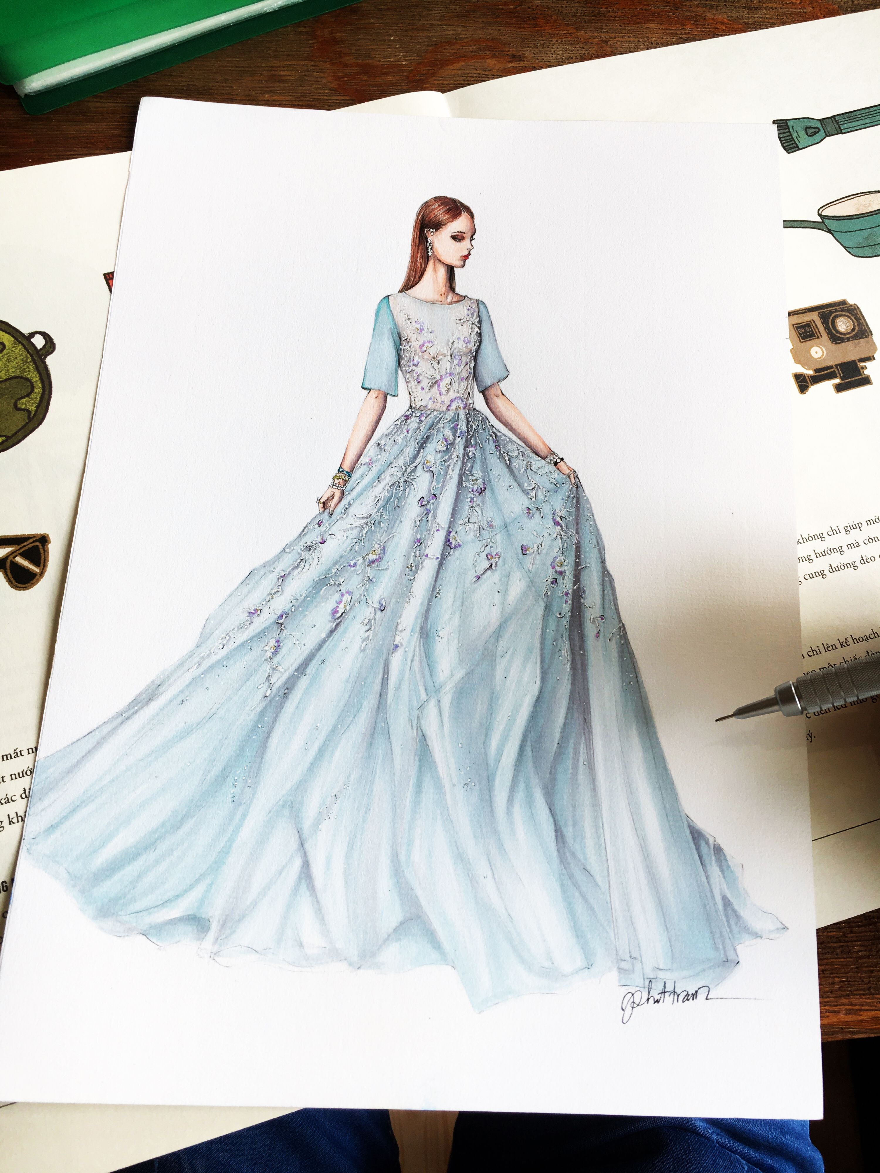 This is a graphic of Obsessed Drawing Of Dress Design