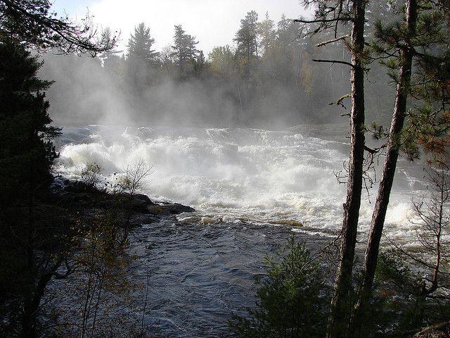 Minnesota Curtain Falls Bwca By Jwartman59 Via Flickr Boundary Waters Canoe Area Waterfall Photo