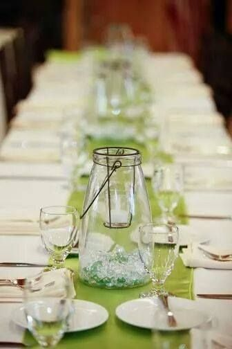 glass centerpieces with green crystals centerpieces in 2018 rh pinterest com