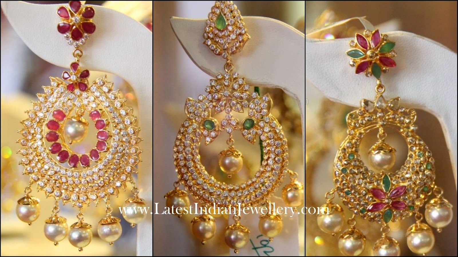 Latest Designer Heavy Chand Bali Earrings | Designers, Indian ...