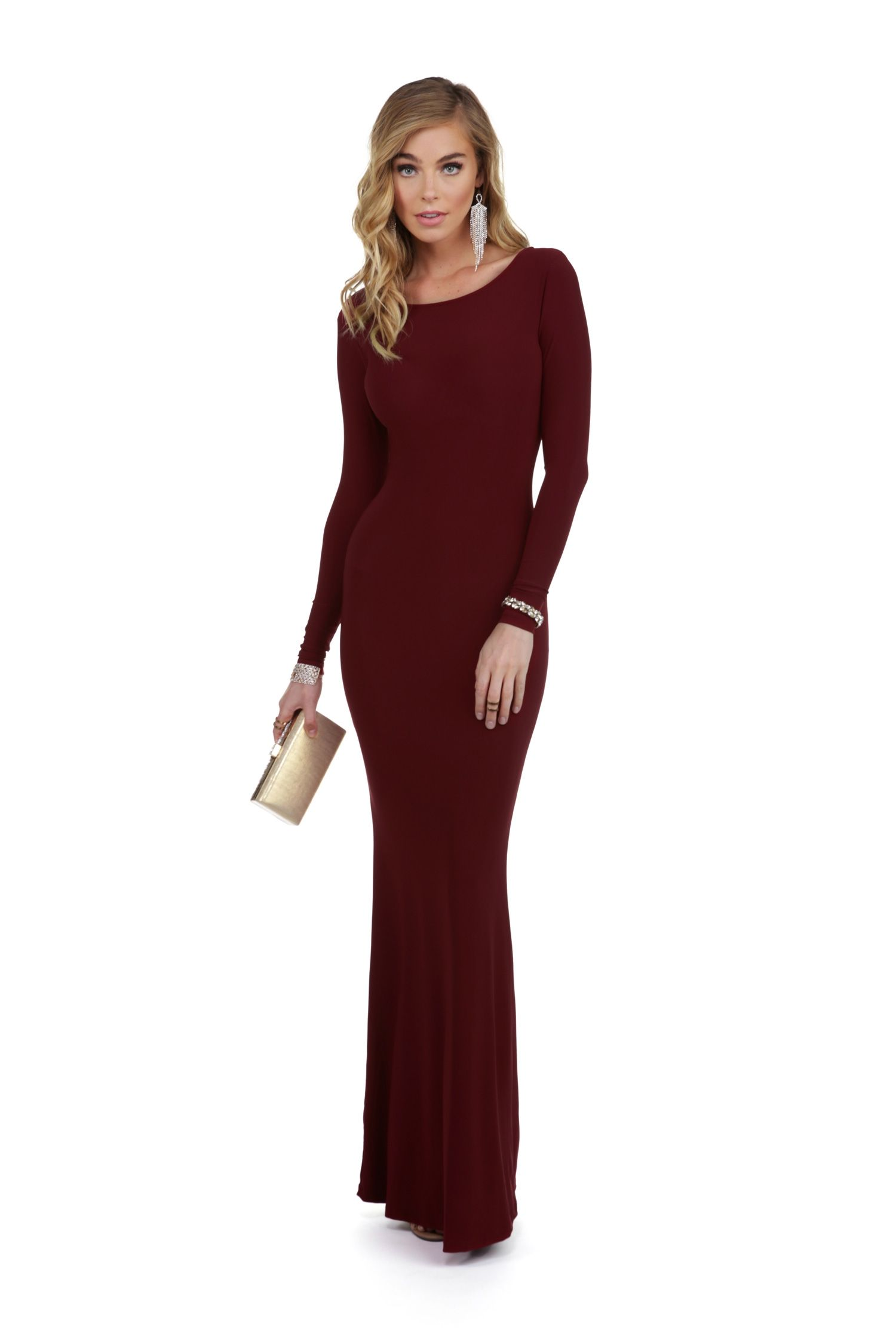 Final Sale Chanelle Burgundy Formal Dress Formal Prom And Winter