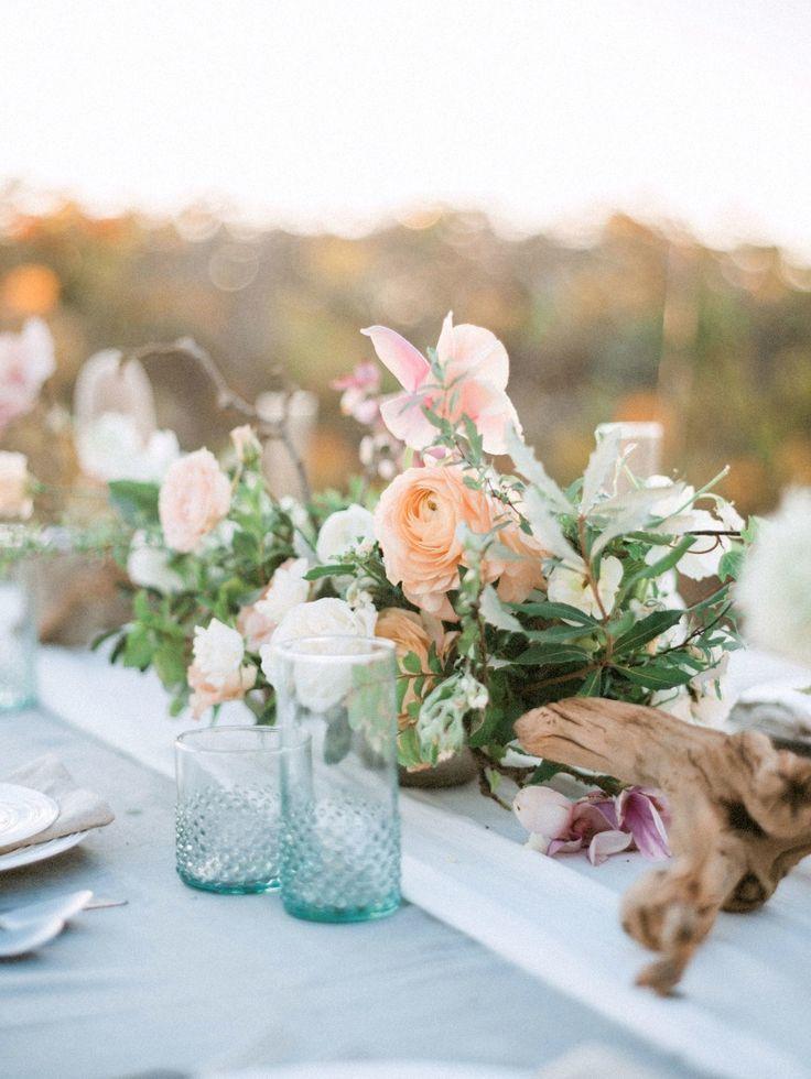 Weddings Flower Arrangements Driftwood floral centerpiece