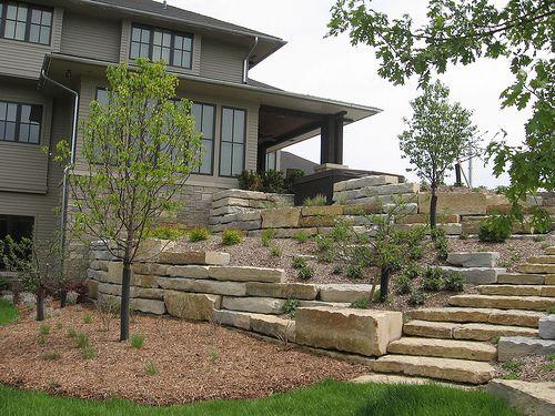 yard landscape retaining
