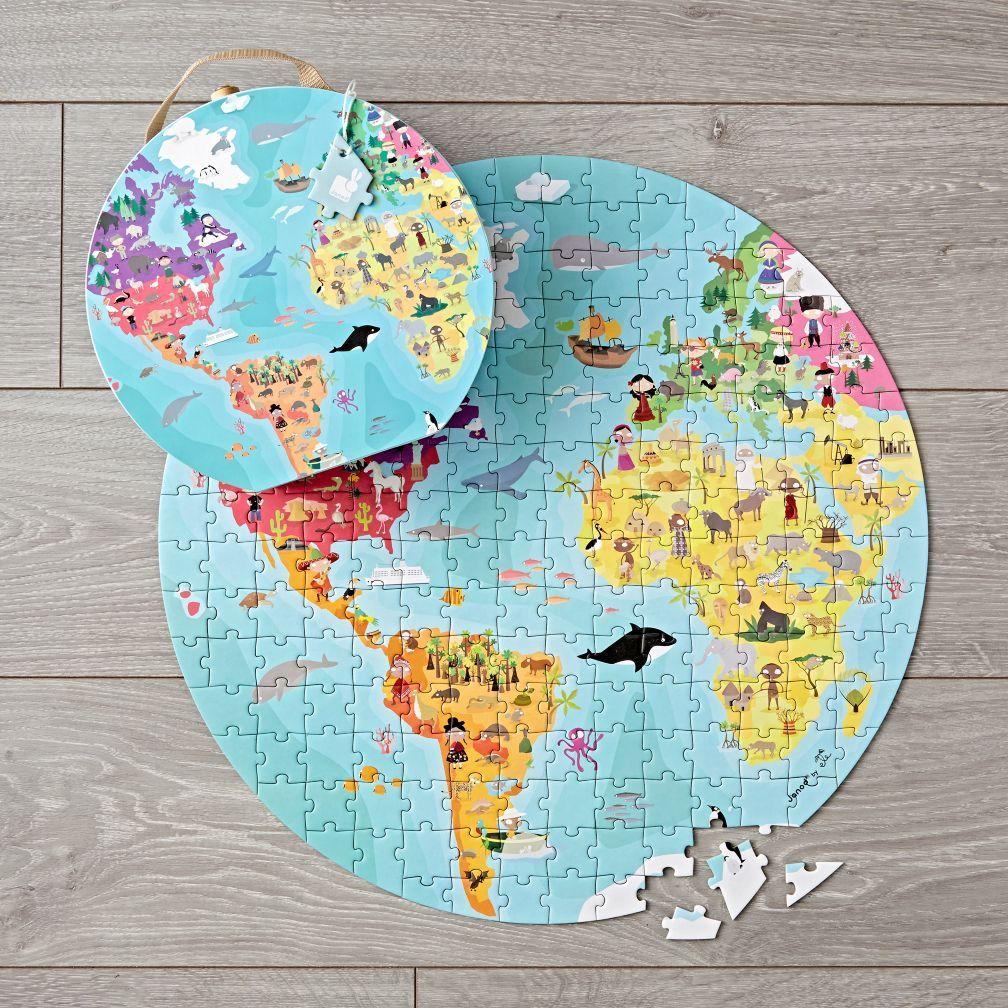 Janod world 208 piece puzzle the land of nod ryan lets travel janod world 208 piece puzzle the land of nod gumiabroncs Images