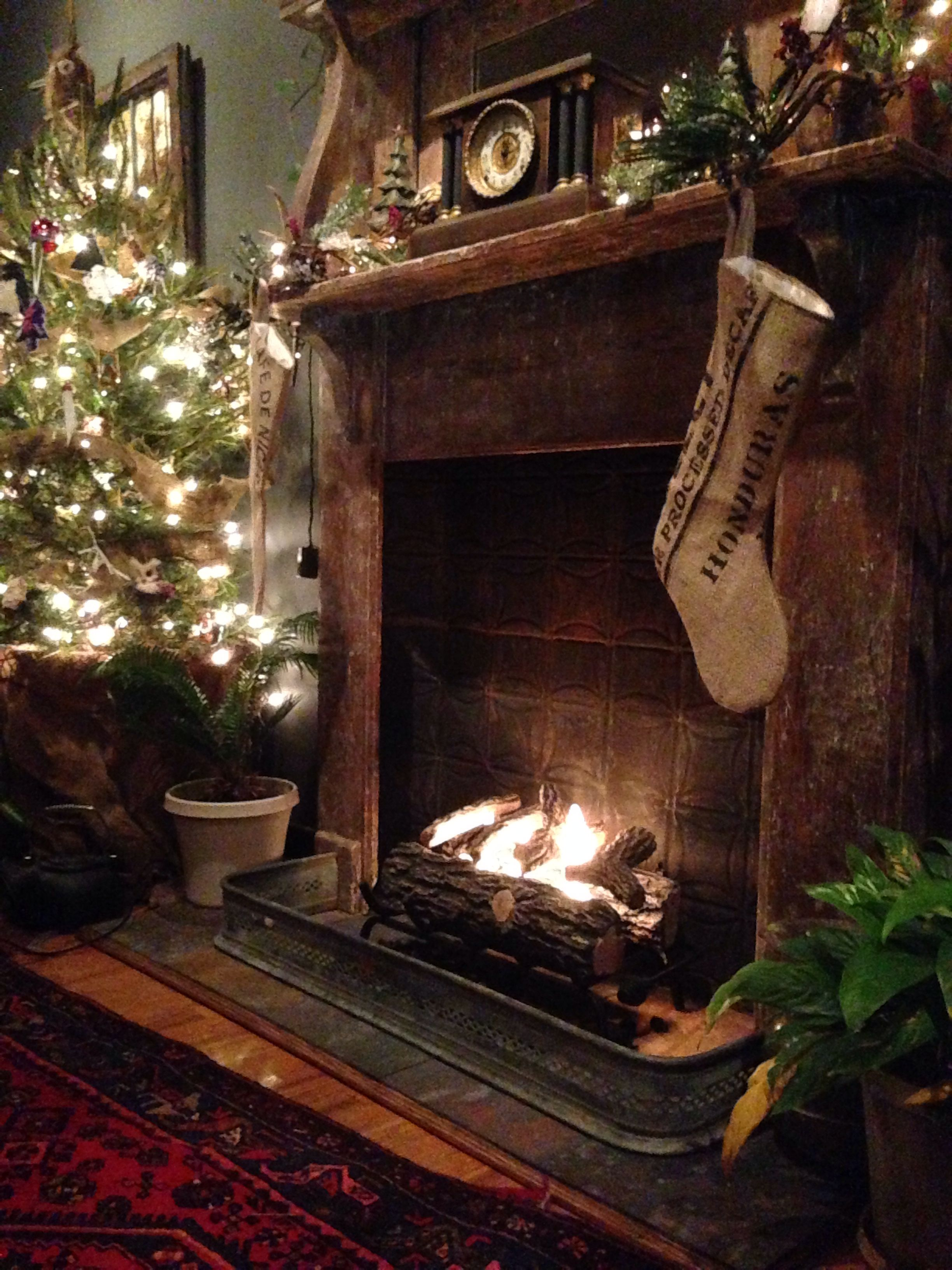 faux fireplace in my loft from reclaimed mantel with ethanol gel log rh pinterest ca
