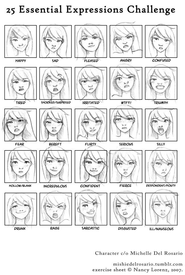 Pin By Yee Kwok On C H A R A C T E R D E S I G N Facial Expressions Drawing Drawing Expressions Expression Challenge