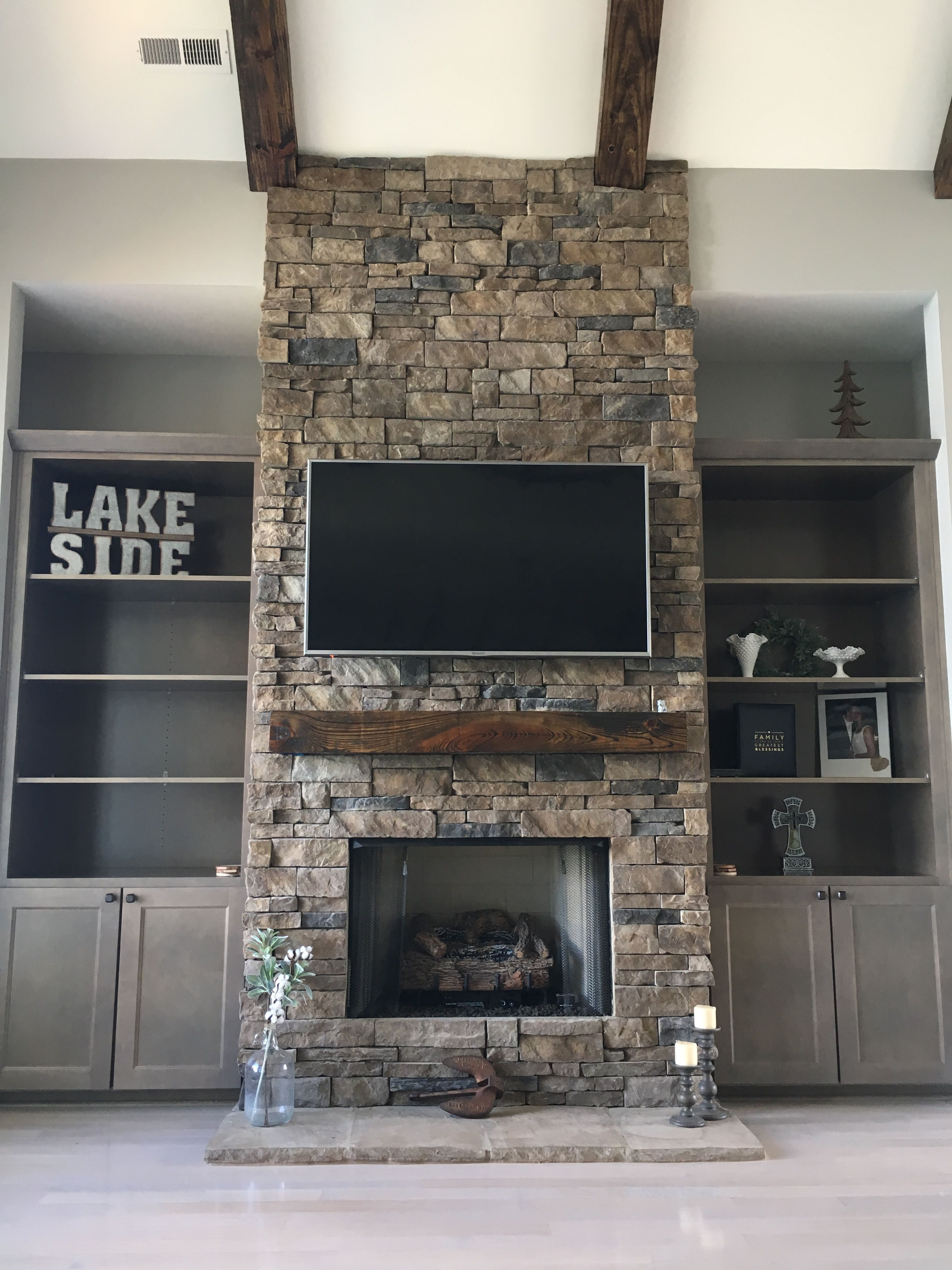 working on decorating lake fireplace bookcases fireplaces in 2018 rh pinterest com