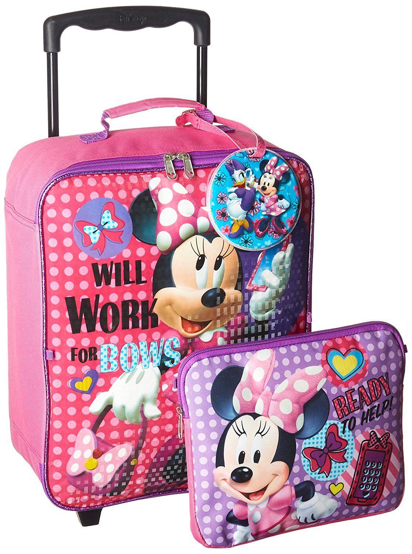 Disney Minnie 3 Pc Luggage Set Kid's Luggage, Pink: Amazon ...