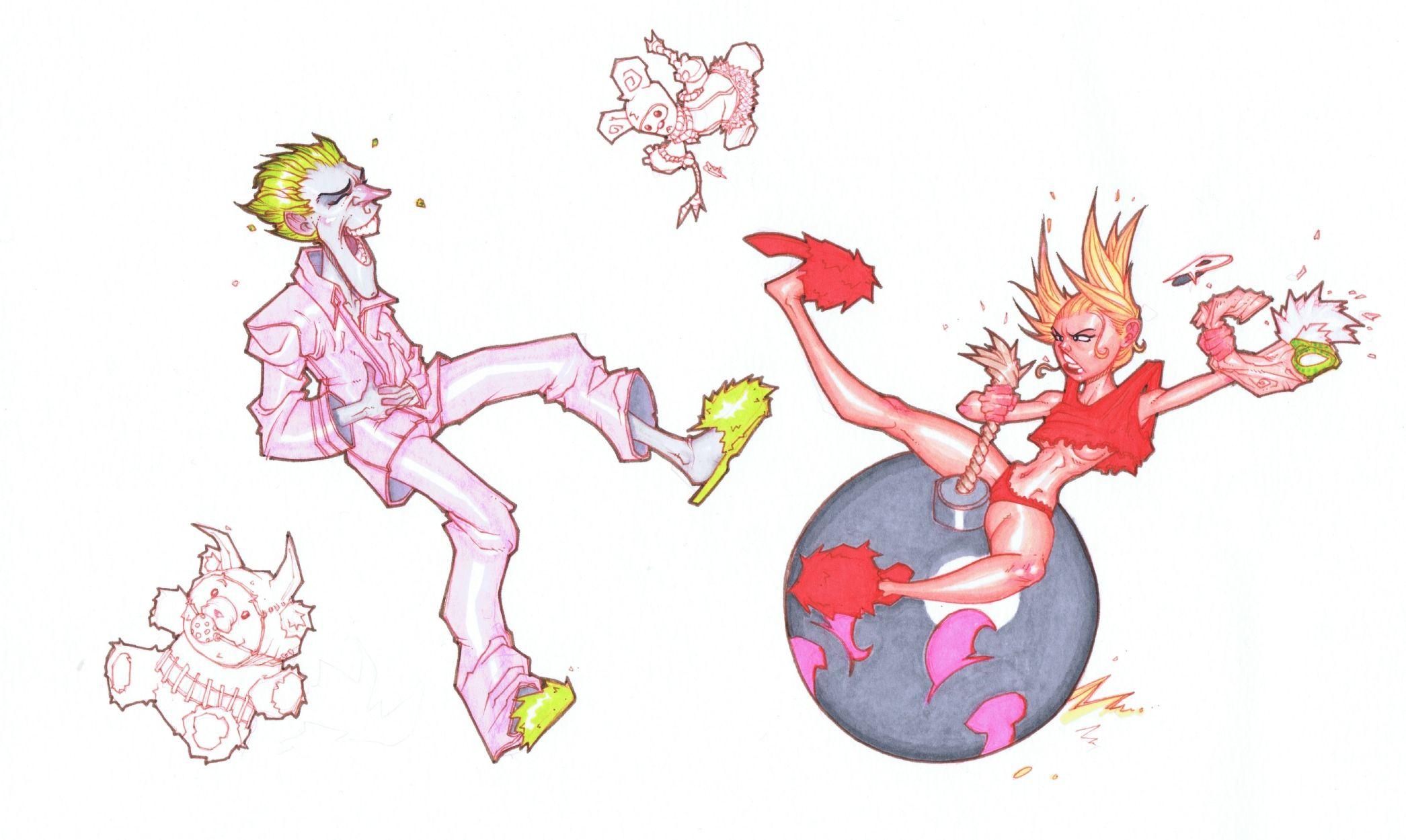 Joker & Harley Comic Art