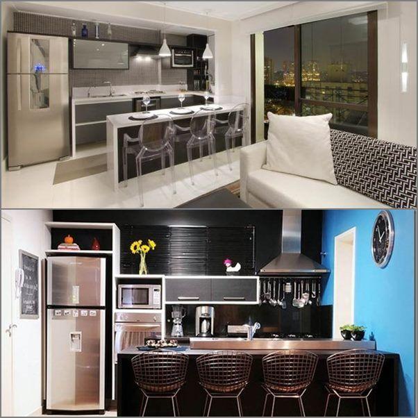 21 cozinhas pequenas cozinha microondas e cozinhas lindas - Armarios para casas pequenas ...