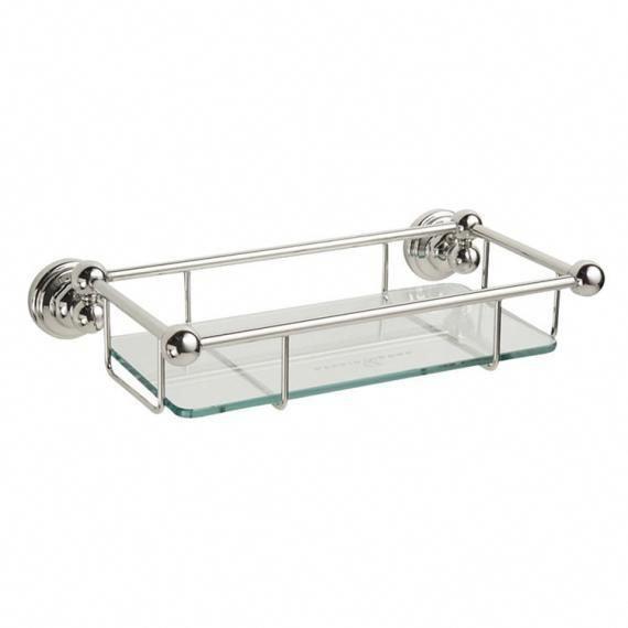 Perrin  Rowe Traditional 260mm Glass Shelf - Image 1