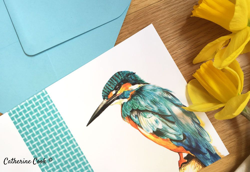 Kingfisher Blank Greetings Card Watercolour By Animal Artist Etsy Watercolor Greeting Cards Animals Artwork Blank Greeting Cards