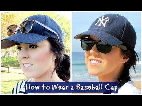 Cute Hairstyles for a Baseball Cap - YouTube  0b0b6d74e4c