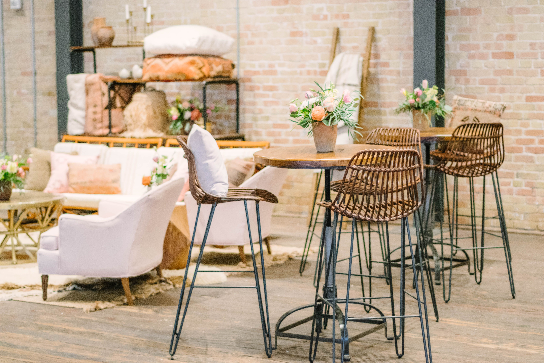 Brazos Hall Boho Wedding Shoot Pink Neutrals Modern Texan Bride Lounge Furniture Via Birch B Modern Furnishings Lounge Furniture Home Staging Companies